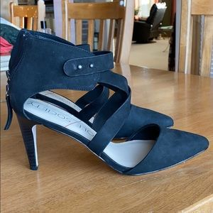Sole Society pointed toe black heels